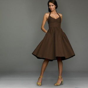 J Crew Brown Dress Sz 4