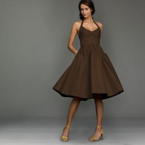 J Crew Brown Dress Sz 4