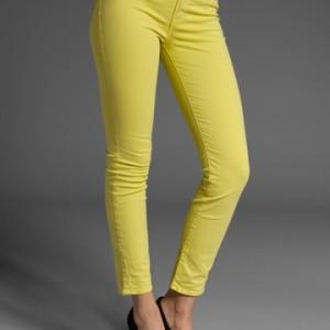 J Brand Yellow Skinny Jeans Sz 28