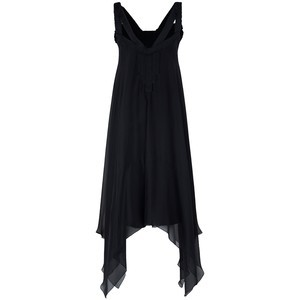 DVF Black Chiffon Dress Sz 4