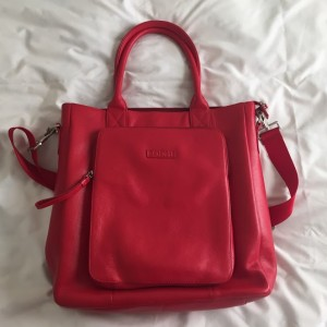 Bodhi Red Leather Large Laptop Bag