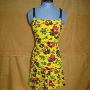 Rachel Roy Yellow Floral Dress Size 4