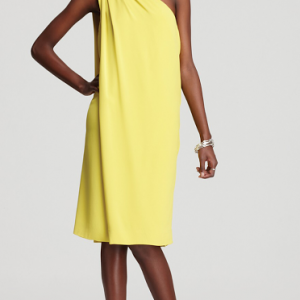 DVF Diane Von Furstenberg Yellow liluye dress Size 8 NWT