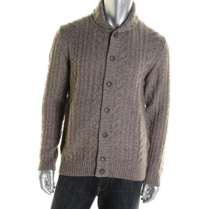 HICKEY FREEMAN  Mens Yak Blend  Cardigan Sweater (XL)